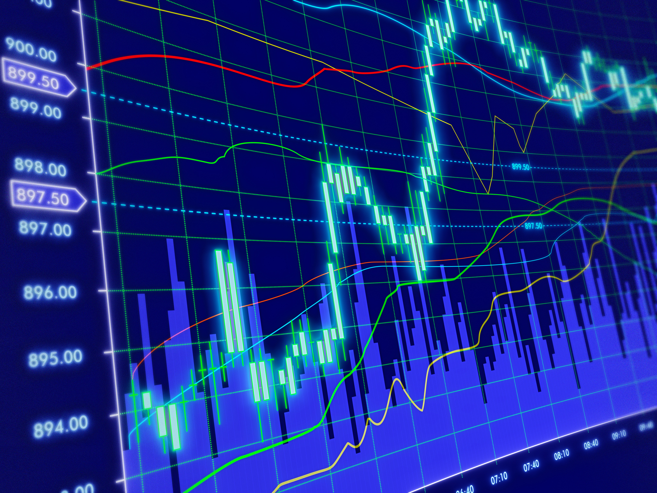 3d blue background with stock diagram - BSIC | Bocconi Students Investment  Club